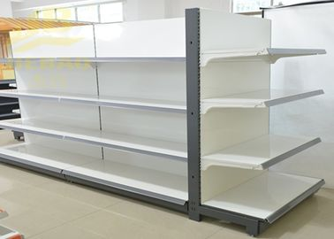 Cina Double Side Commercial Steel Racks Hypermarket, Slanted Arms Cold Rolled Steel pemasok
