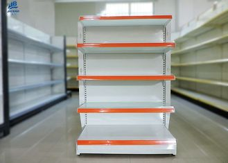 White Convenience Store Shelving / OEM Supermarket Shelving Systems